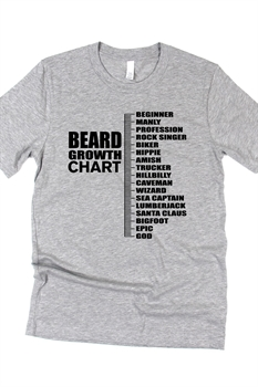 Picture of Beard Growth Chart Graphic Tee