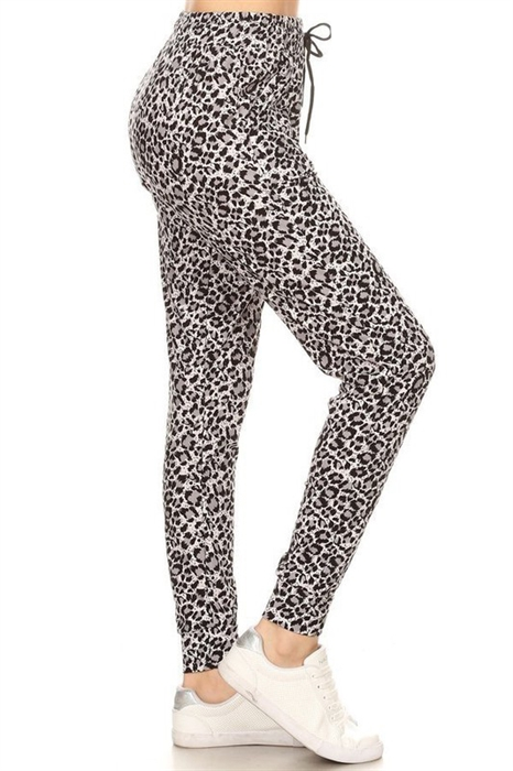 Picture of Black & White Leopard Joggers