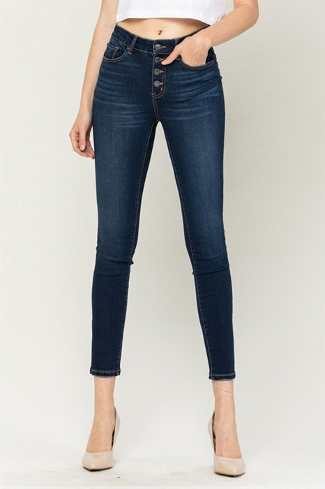 Picture of Vervet Holly High Rise Button Up Jeans