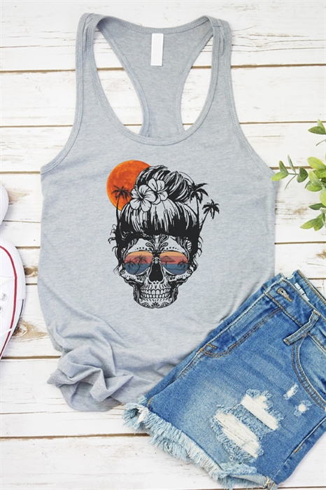 Picture of Beach Skull Graphic Tank