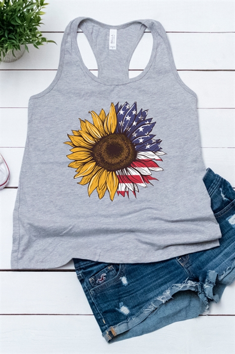 Picture of Freedom Flower Graphic Tank