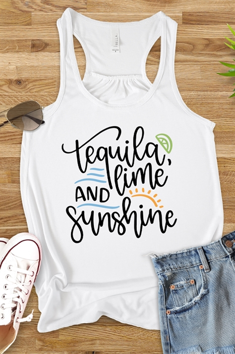 Picture of Tequila Lime and Sunshine Flowy Graphic Tank