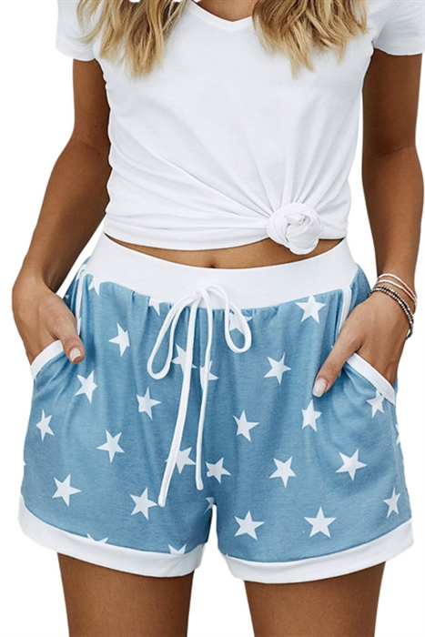 Picture of Starry Night Tie Waist Shorts