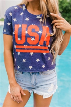 Picture of Vintage USA Cropped Tee