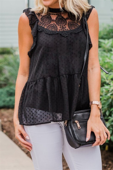 Picture of Flowy Lacey Tank