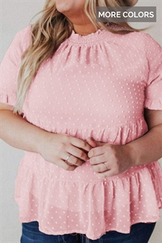 Picture of Curvy Tiered Ruffle Top