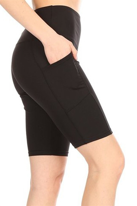 Picture of High Waist Bike Shorts with Pocket