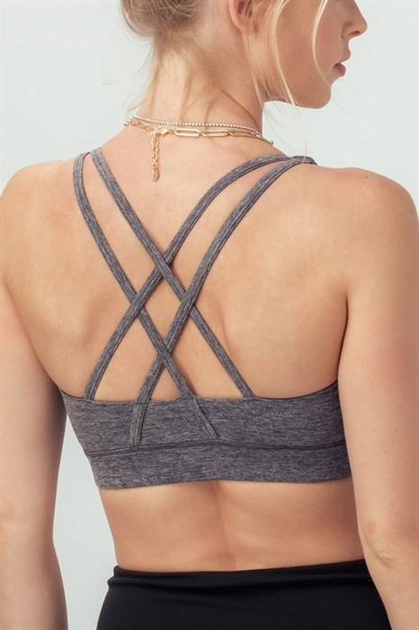 Picture of Double Strap Criss Cross Sports Bra