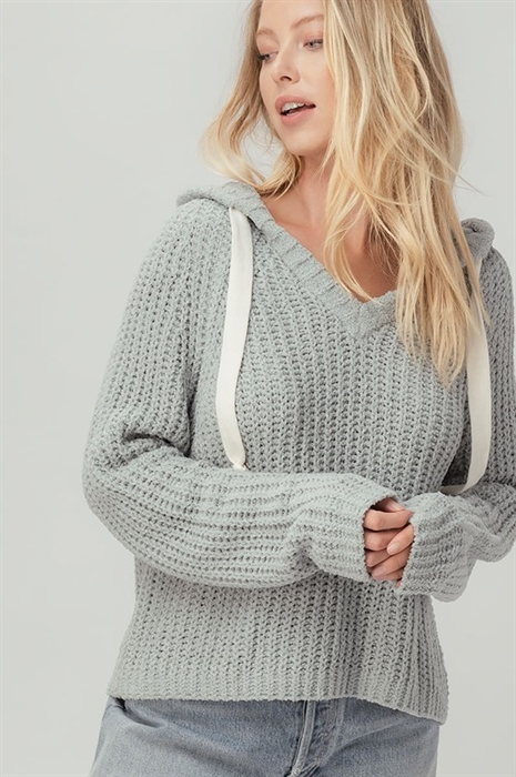 Picture of Chenille Hooded Sweater